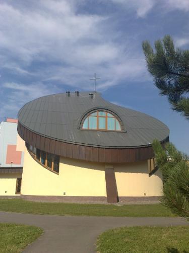 titánzinková strecha - kostol Prievidza