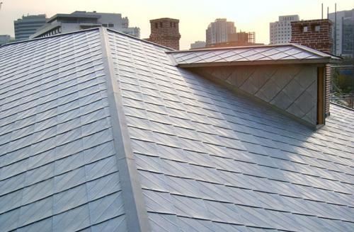 titánzinková strecha - Južná Korea