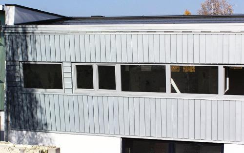 titanzinková fasáda - budova INPRO spol. s r.o.